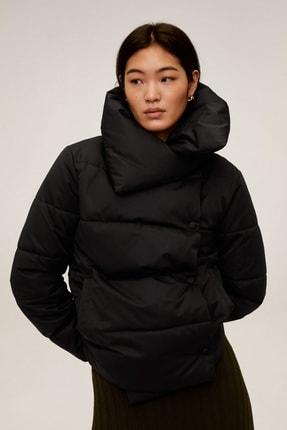 MANGO Woman Kadın Siyah Dik Yakalı Kaz Tüyü Dolgulu Mont 77034384