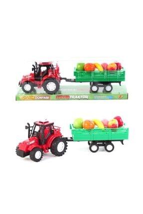 Cebitoys Vakumlu Sürtmeli Meyve Taşıyan Traktör