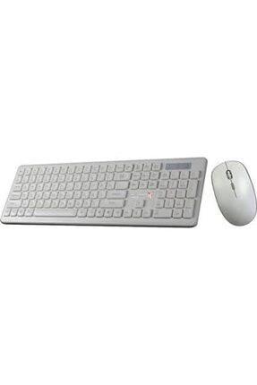 TURBOX Km-20 Wireless Multimedya Tr Q Klavye Mouse Set Beyaz