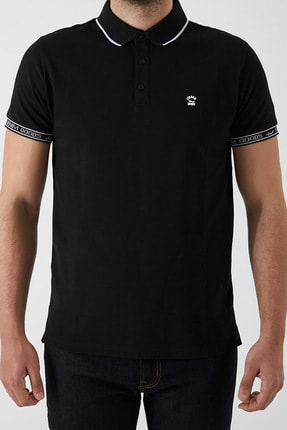 Ltb Erkek  Siyah Polo Yaka T-Shirt 012208408060890000
