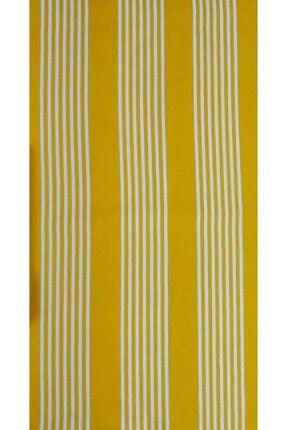 Evim Ceylan Home Sarı Çizgili Balkon Perdesi Brandası 500/250