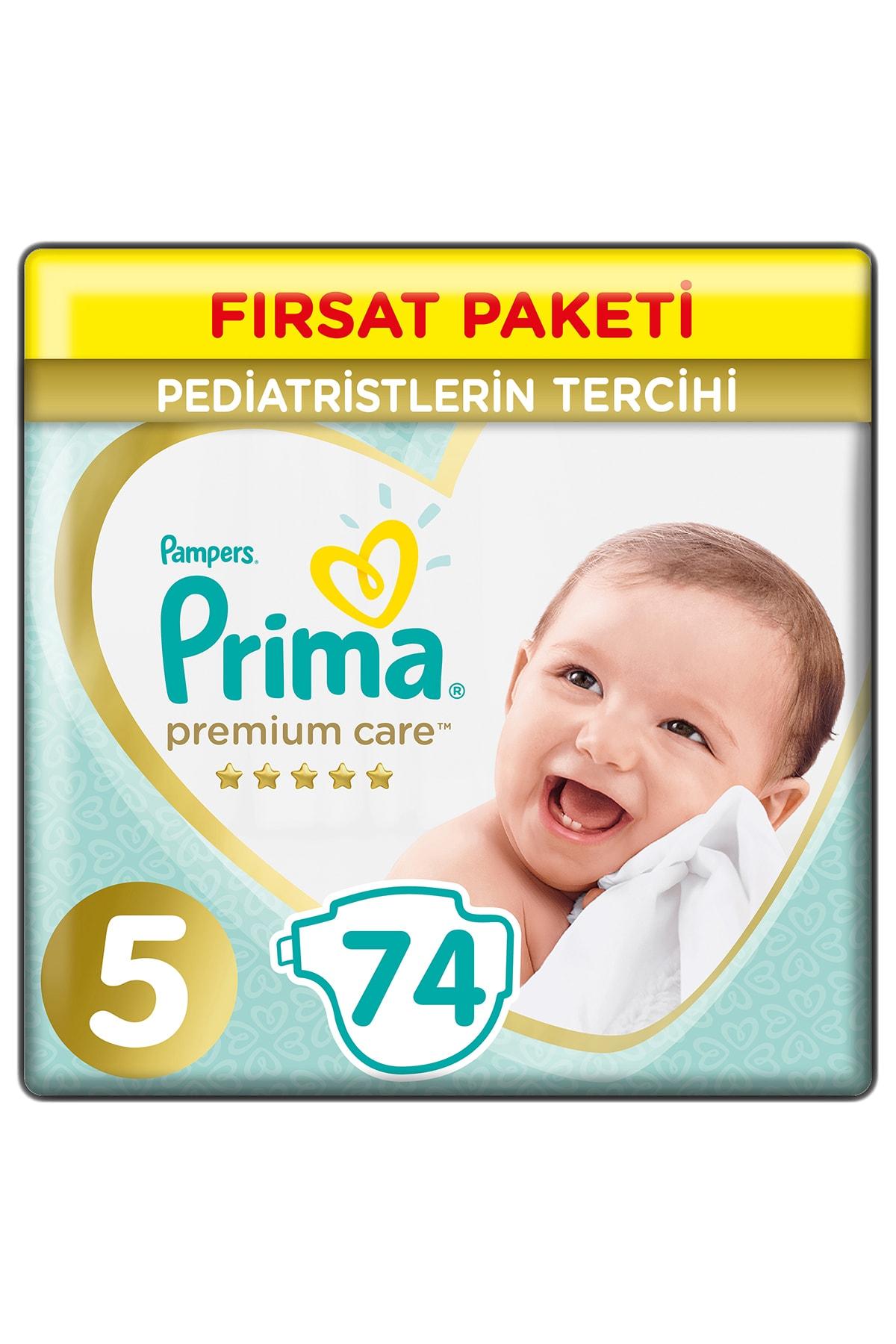 Prima Bebek Bezi Premium Care 5 Beden 74 Adet Junior Fırsat Paketi 1