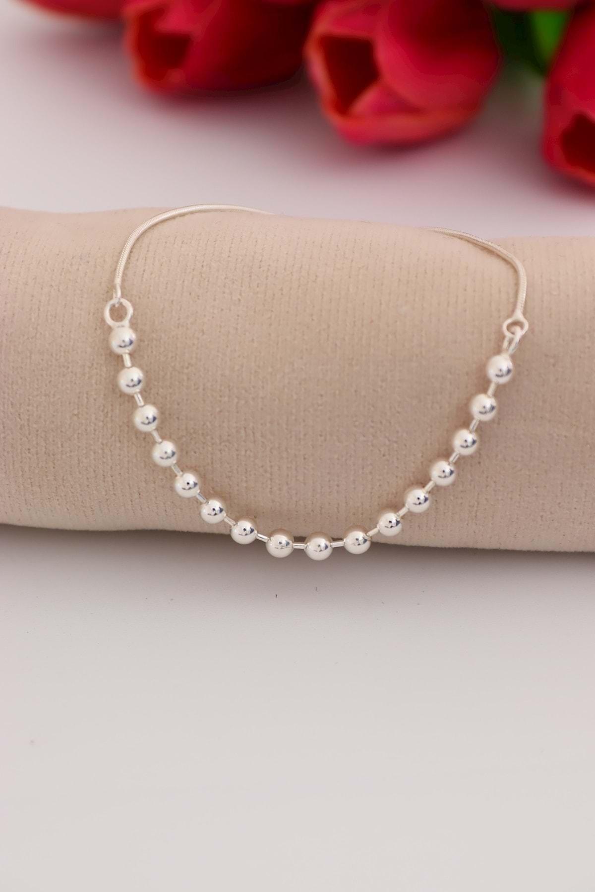 Soylu Silver Toplu 925 Ayar Ayarlanabilir Gümüş Bayan Bileklik 2