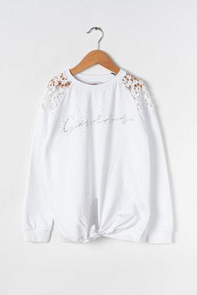 Guess Kız Çocuk Beyaz Sweatshirt J92Q01
