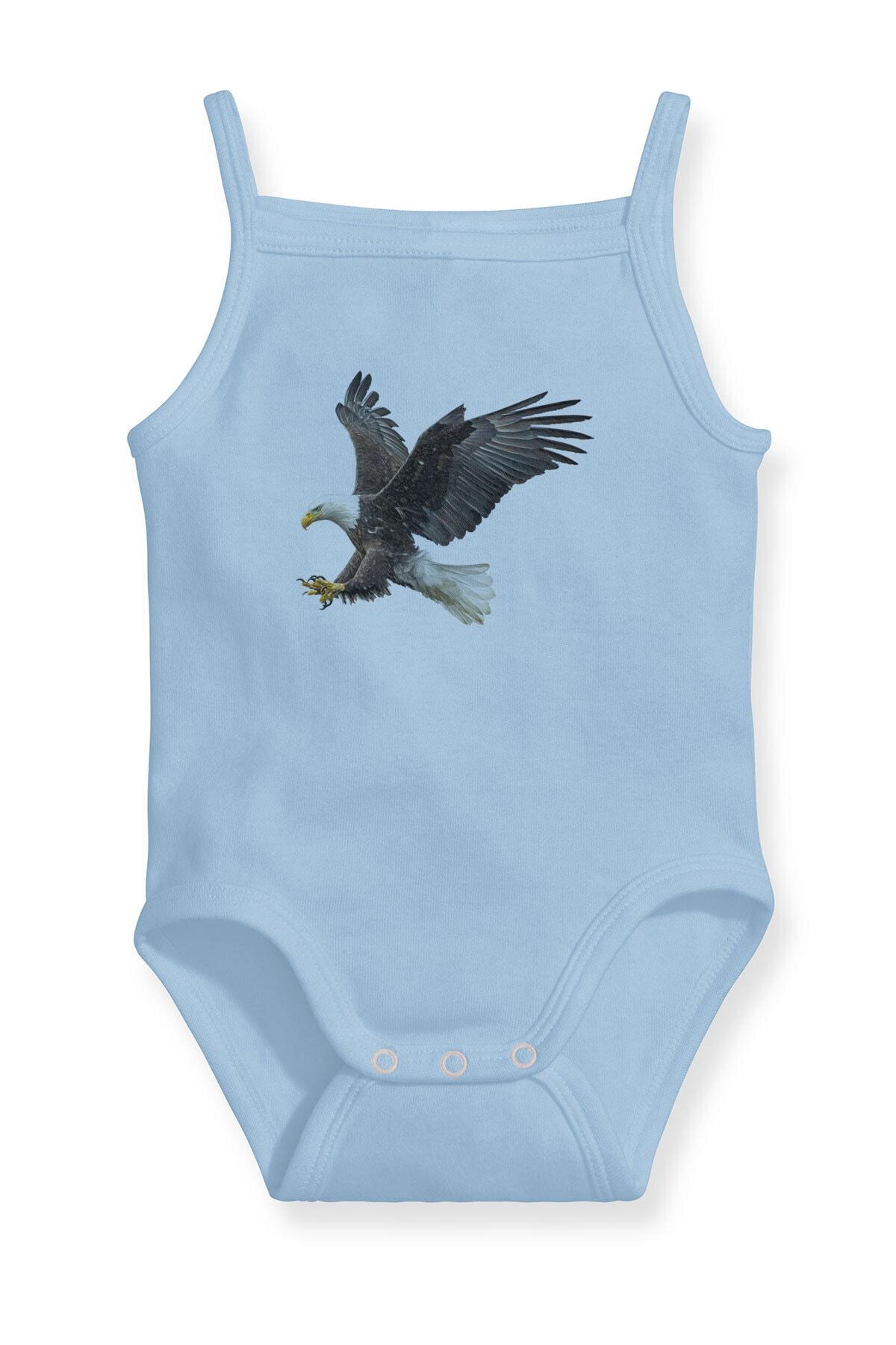 Angemiel Baby Şahin Erkek Bebek Askılı Zıbın Body Atlet Mavi 1