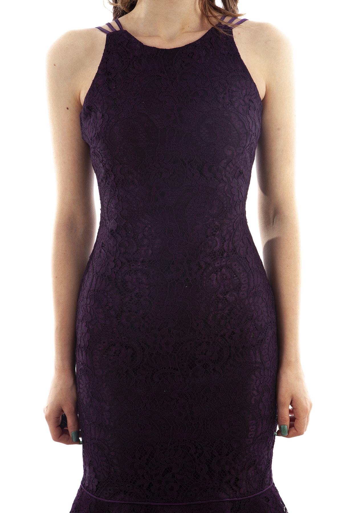 Ardanewline Kadın Mor Elbise 130136-10 2