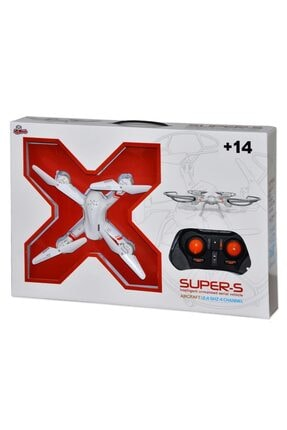 Vardem Supers Intelligent Unmanned Aerial Vehicle 4 Kanal 2.4 Ghz Işıklı Süper-s Drone 33041