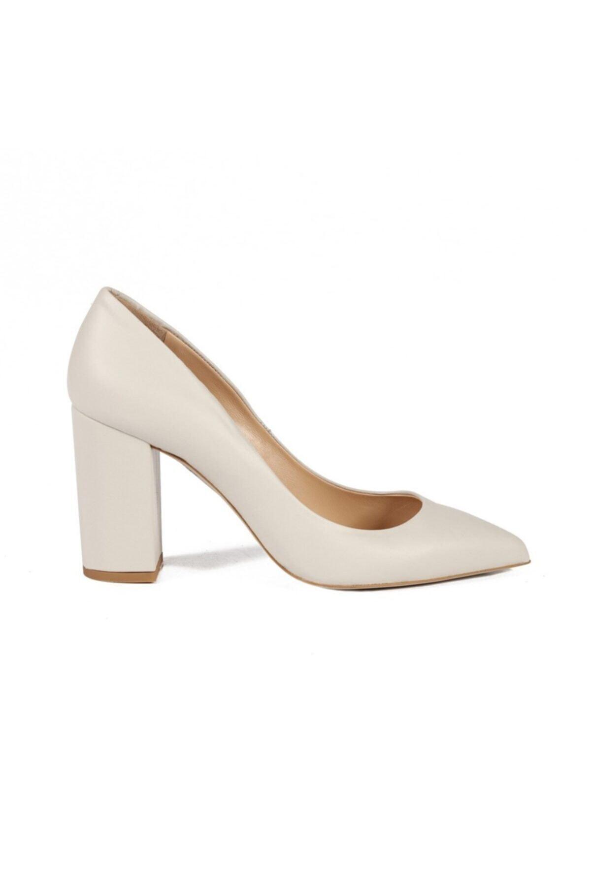 Sofia Baldi Kadın Rachelle Beyaz Deri Topuklu Ayakkabı 1