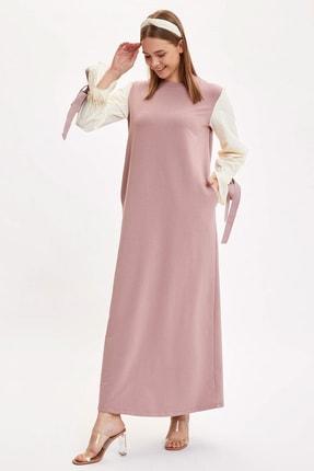 DeFacto Modest Kol Detaylı Dokuma Elbise