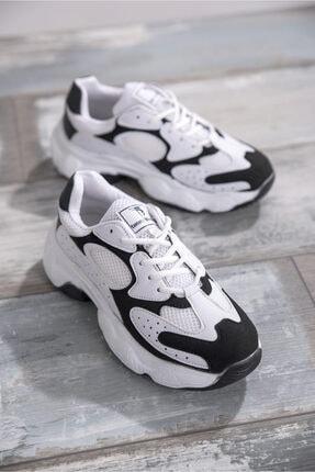 Tonny Black Bayan Spor Ayakkabı Beyaz Siyah Tb284 -> 37 -> Beyaz Siyah