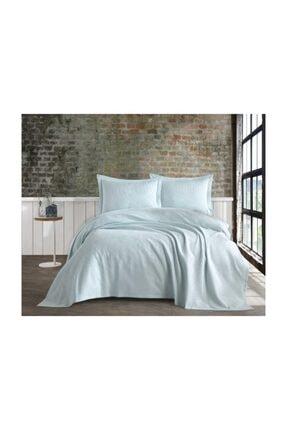 İpekçe Home Cenova Saten Pike Yatak Örtüsü Mavi
