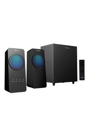 Mikado Md-318bt 2+1 25w Siyah Usb+fm+bluetooth Destekli Led Işıklı Speaker