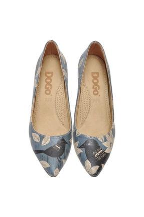 Dogo White Flowers Kadın Topuklu Ayakkabı