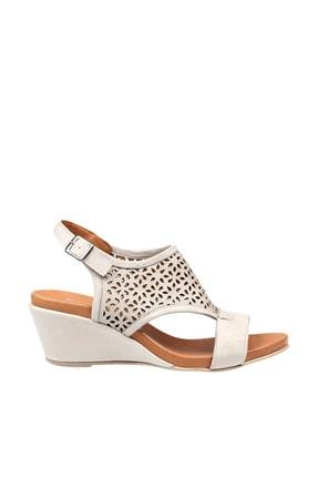 Hammer Jack Buz Beyazı Kadın Dolgu Topuklu Ayakkabı 194 7009-Z-9241