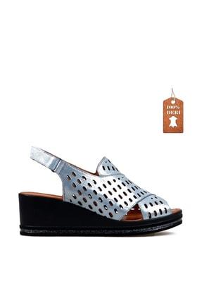 Hammer Jack Kot Mavı Bayan Terlik / Sandalet 549 Tena-01-z