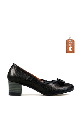 Hammer Jack Kadın Siyah Platın  Ayakkabı 538 642-z