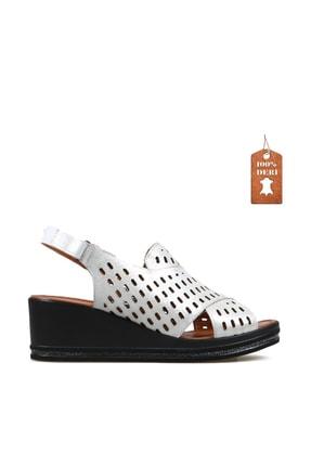 Hammer Jack Beyaz  Bayan Terlik / Sandalet 549 Tena-01-z