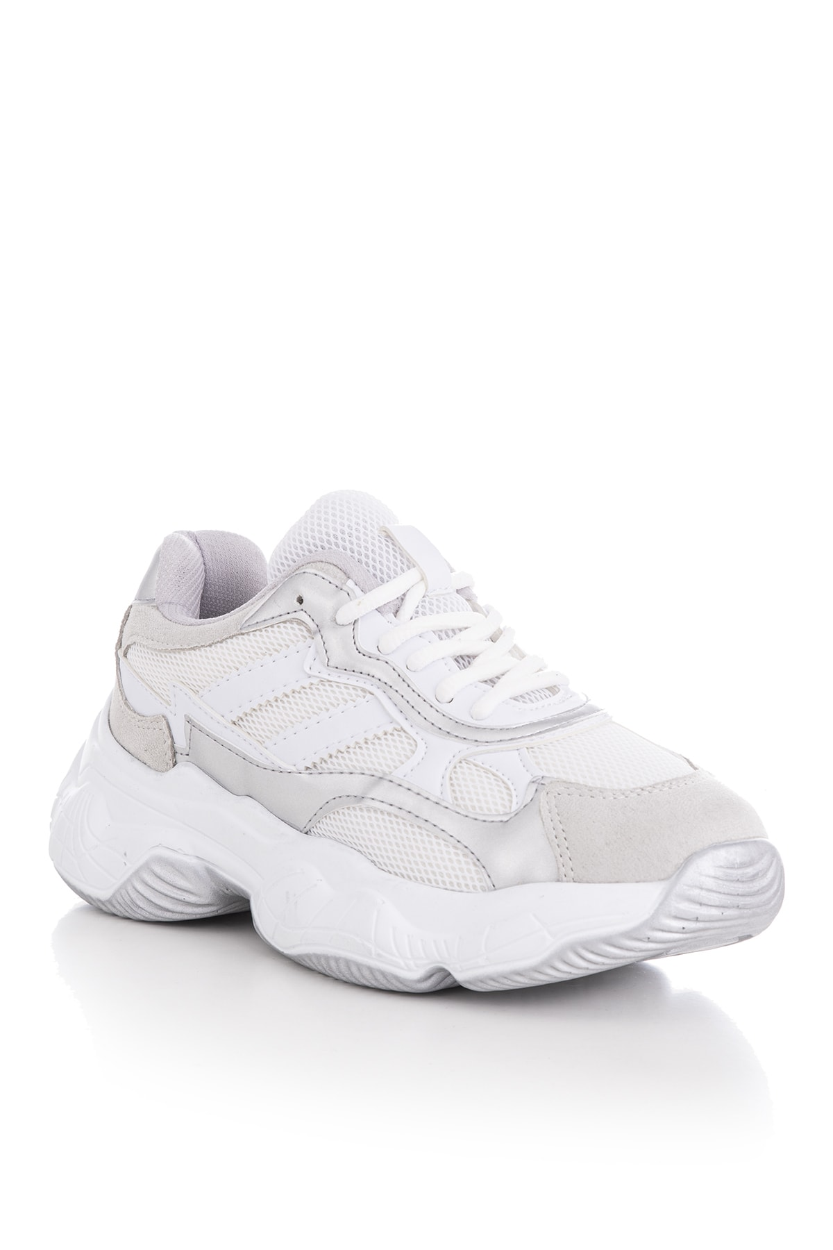 Tonny Black Kadın Spor Ayakkabı Beyaz Gri Tb246 2