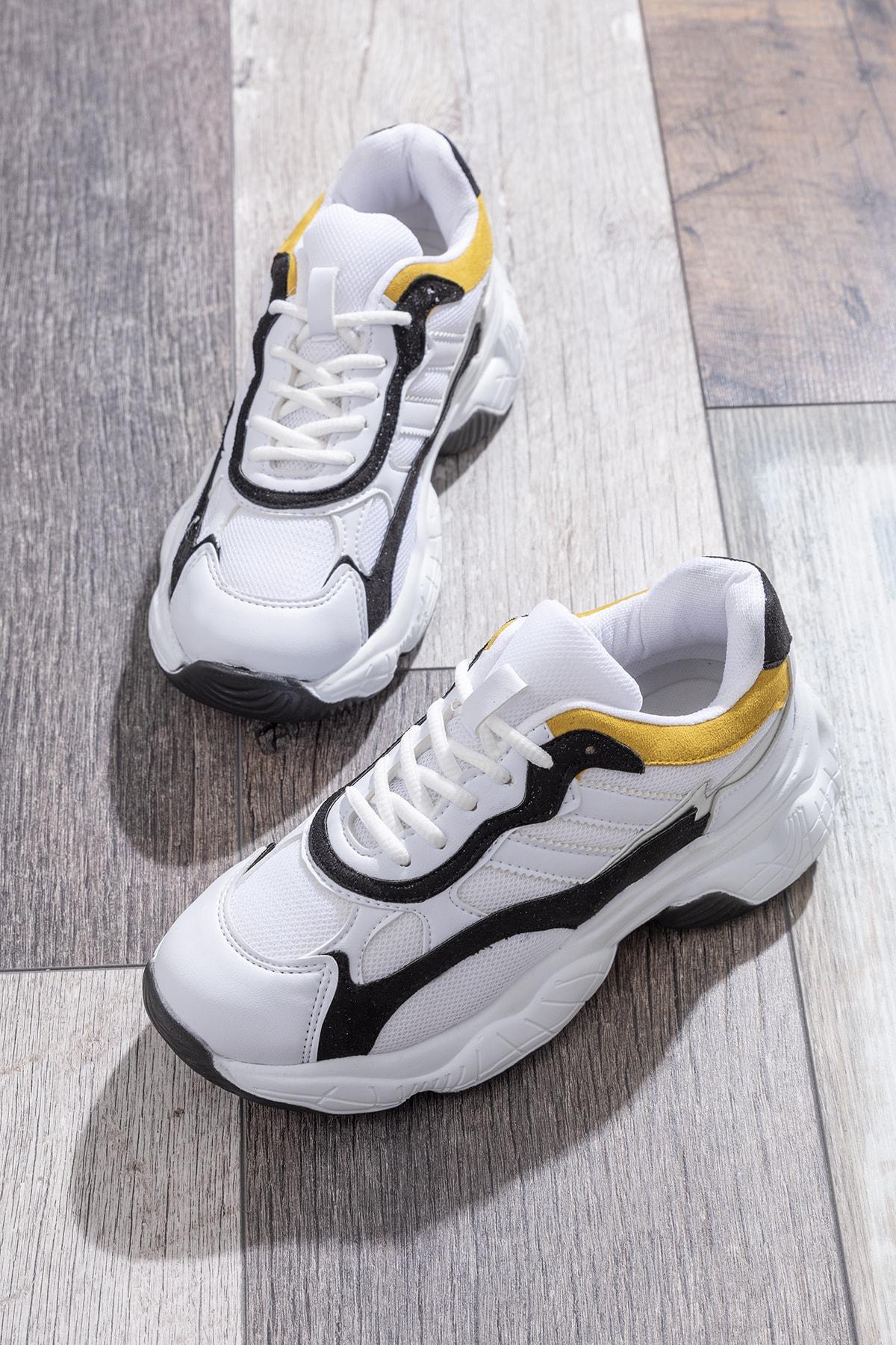 Tonny Black Kadın Spor Ayakkabı Beyaz Siyah Tb246 1