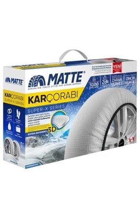 Matte Superx - 185 60 R14 Small Kar Çorabı