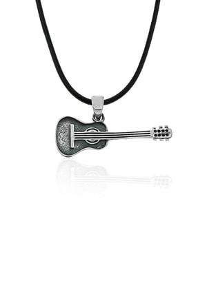 Gümüş Pazarım Gitar Motifli Gümüş Kolye