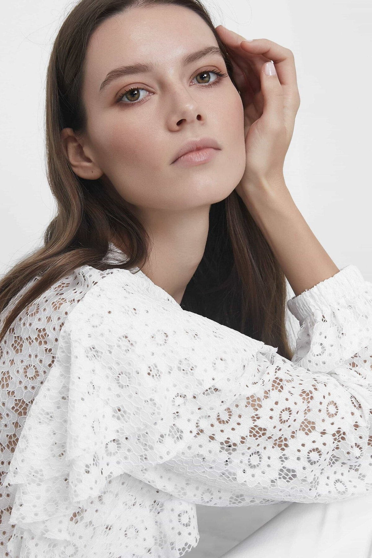 İpekyol Kadın Ekru Dantel Bluz IS1200006091018 1