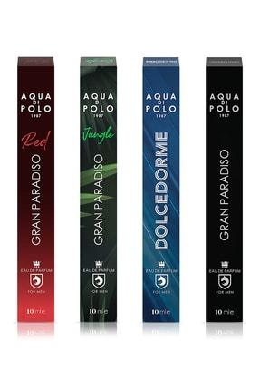 Aqua Di Polo 1987 4'lü Gran Parasido Red +gran Parasido + Gran Parasido Jungle+ Dolcedorme Edp Erkek Parfüm 40 ml
