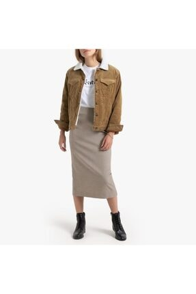 Vero Moda Yakası Kürklü Kadife Mont Ceket