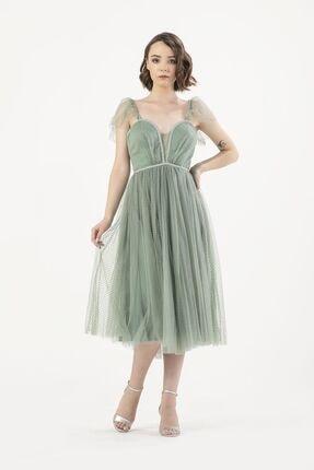 MAXXE Kadın Yeşil Tül Elbise