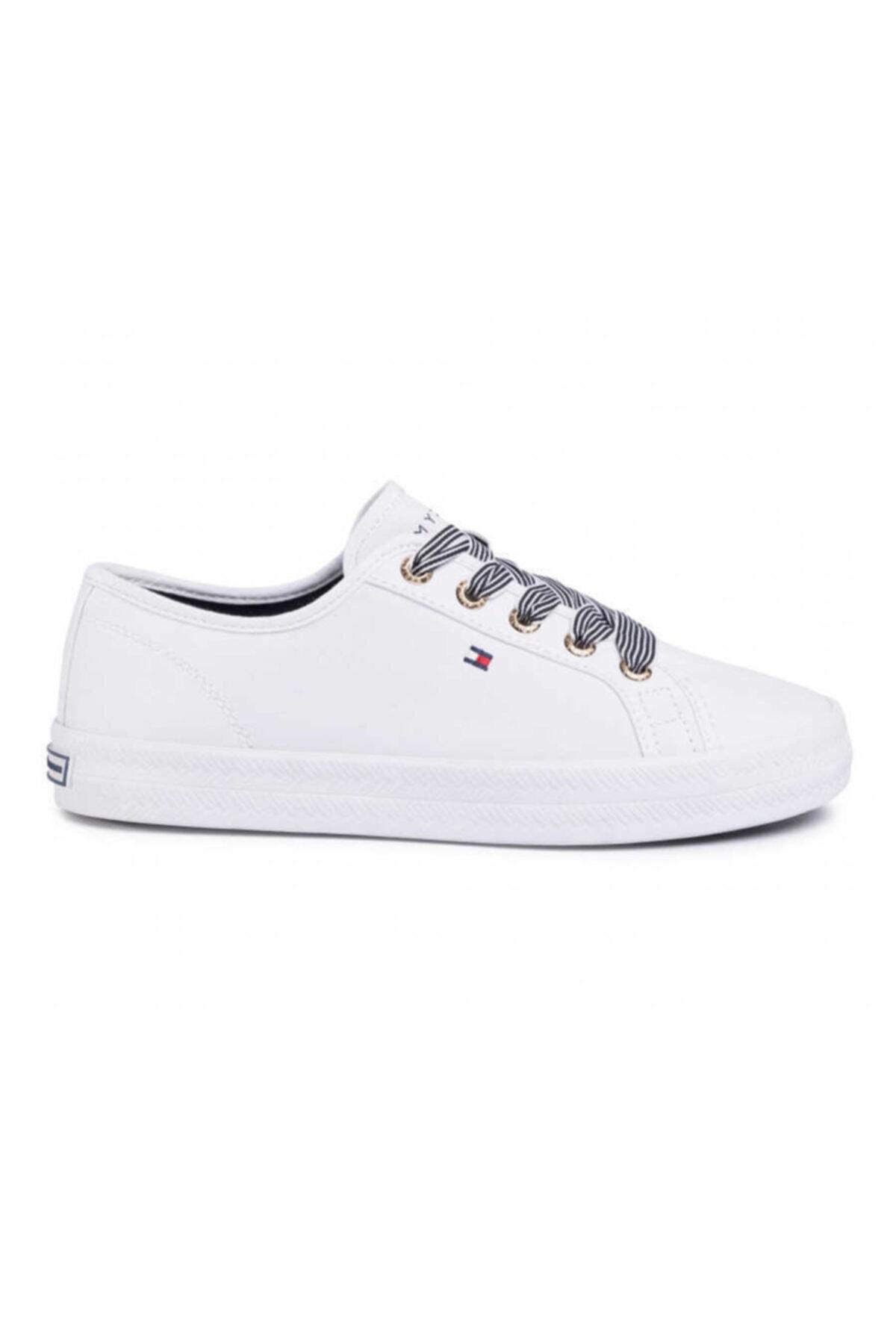 Tommy Hilfiger Kadın Beyaz Sneaker Essentıal Nautıcal Sneaker FW04848-YBS 1