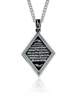 Gümüş Pazarım Ayet - El Kürsi Yazılı Gümüş Kolye