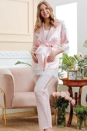 Cossy By Aqua Hamile Pijama Takım 3'lü  Aqua 20527