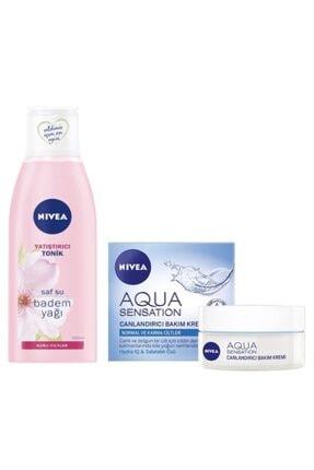 Nivea Aqua Sensation Canlandırıcı Bakım Kremi 50 ml Yüz Yatıştırıcı Tonik 200 ml