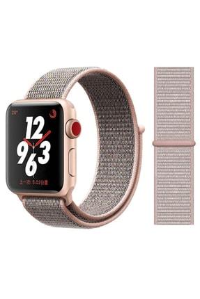 Elfia Apple Watch 5. Nesil 38mm Pastel Renkli Tarz Örgü Saat Kordonu