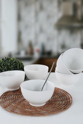 Keramika Mat Beyaz Rodos Çorba Kasesi 14 Cm 6 Adet