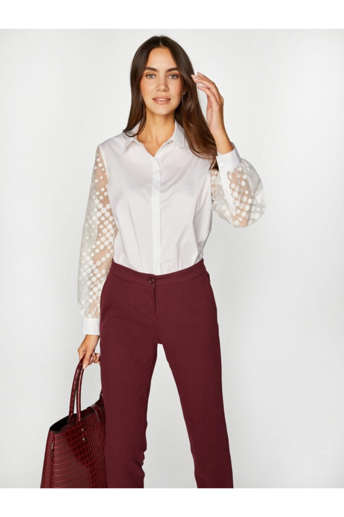 Faik Sönmez Kadın Beyaz Gömlek 39320 U39320 1