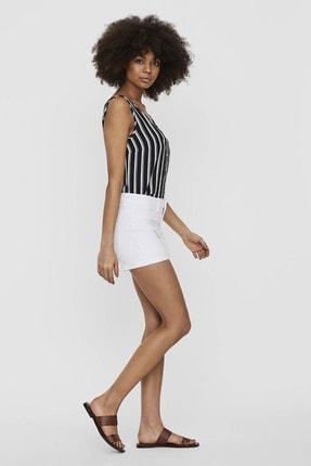 Vero Moda Kadın Beyaz Paçaları Katlamalı Şort 10225852 VMHOT