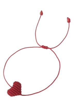Premium ONLY Kalpli Makrome Ayarlanabilir Bileklik Kırmızı Handmade