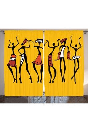 Orange Venue İnsanlar Perde Afrikalı Dansçılar