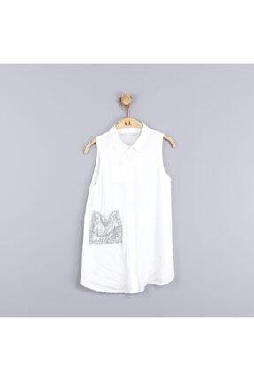 NK Kız Çocuk Cebi Oynar Pullu Gömlek