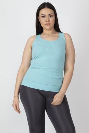 Şans Kadın Turkuaz Sporcu Bluzu 65N16329