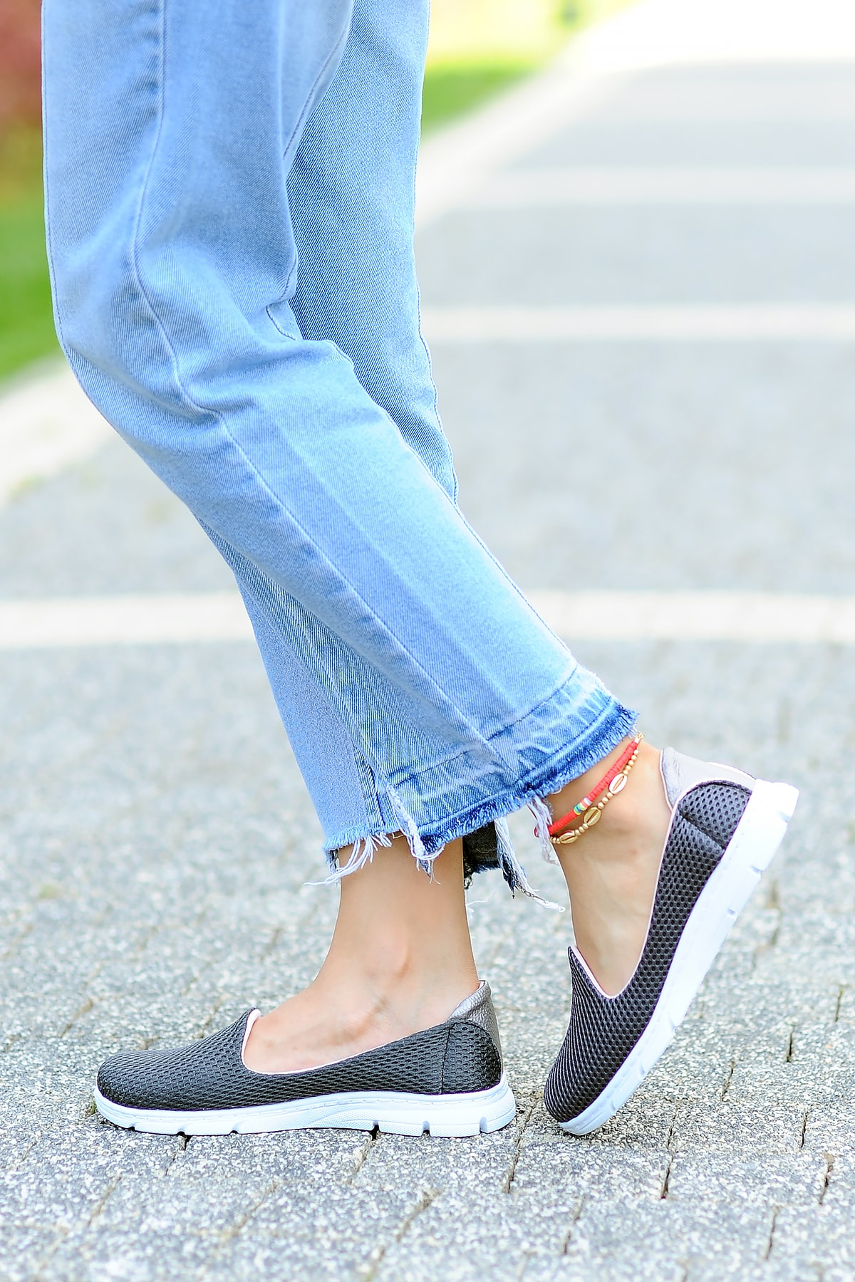 Pembe Potin Kadın Füme Ayakkabı 2