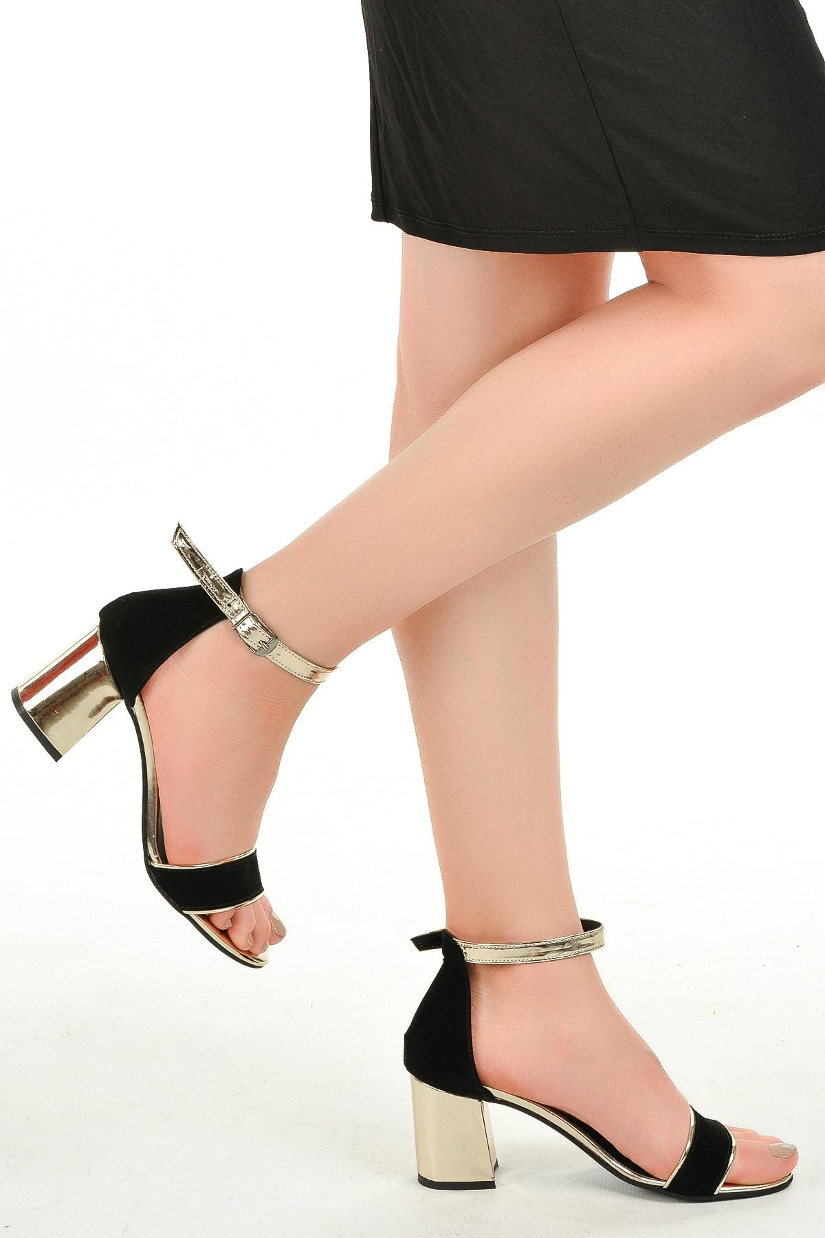 Ayakland 2013-03 Rugan 7 Cm Topuk Bayan Sandalet Ayakkabı 2