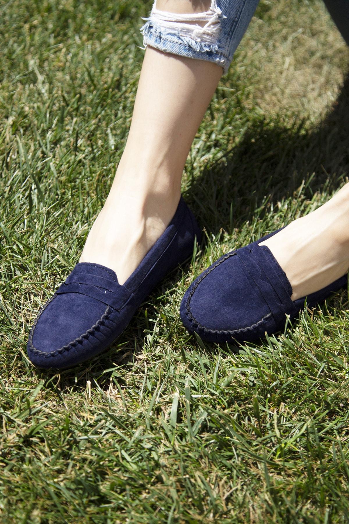Ayakkabı Modası Lacivert Kadın Babet 5008-20-111008 1