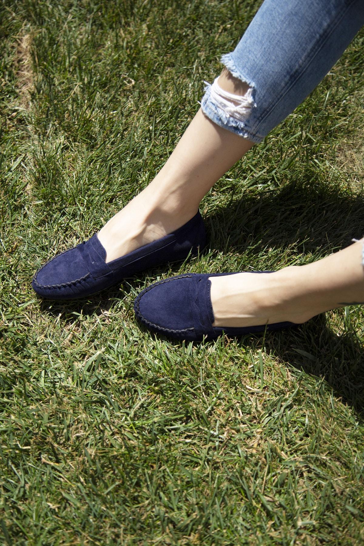 Ayakkabı Modası Lacivert Kadın Babet 5008-20-111008 2