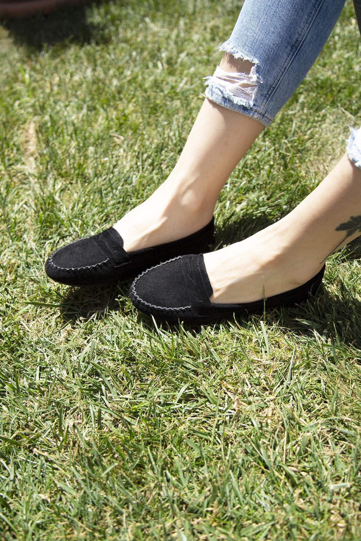 Ayakkabı Modası Siyah Kadın Babet 5008-20-111008 2