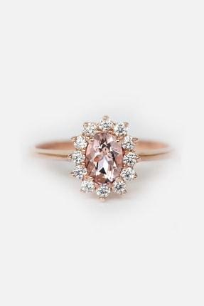 My Diamond Morganit Ve Pırlanta Taşlı Anturaj Tasarım Yüzük Rose Gold