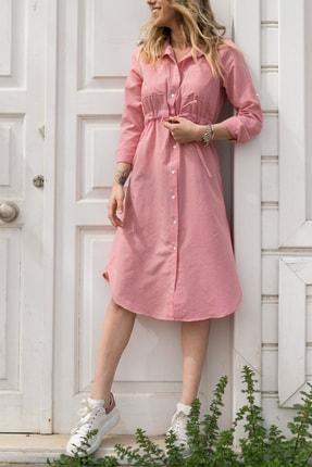 XHAN Kareli Beli Bağcıklı Elbise 0YXK6-43348-04