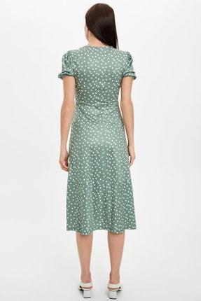 DeFacto Kadın Yeşil Regular Fit Dokuma Elbise N9768AZ.20SM.GN772