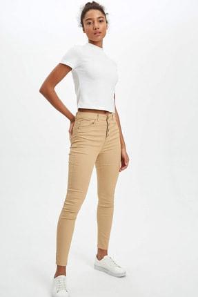 DeFacto Kadın Bej Anna Ankle Super Skinny Fit Pantolon N2696AZ.20SP.BG394